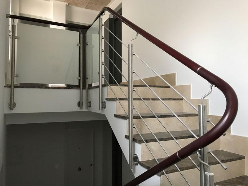 escalera barras de acero